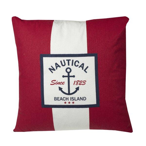 Murray Nautical Throw Pillow by Breakwater Bay