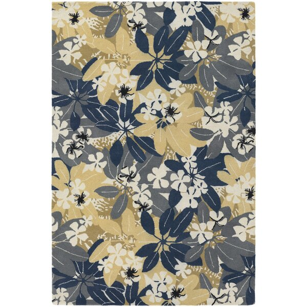 Bingham Designer Blue/Beige Area Rug by Bay Isle Home
