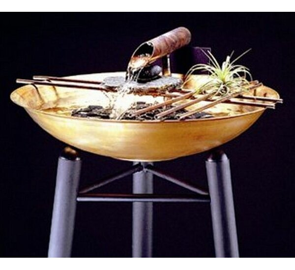 Metal Nature Bowl Small Tabletop Fountain by Nayer Kazemi