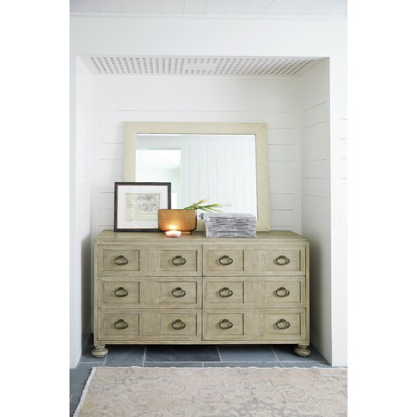 Santa Barbara 6 Drawer Double Dresser with Mirror by Bernhardt