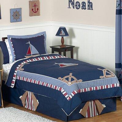 Nautical Nights 3 Piece Full/Queen Comforter Set by Sweet Jojo Designs