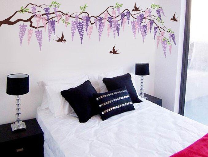 Pop Decors Beautiful Wisteria Wall Decal | Wayfair