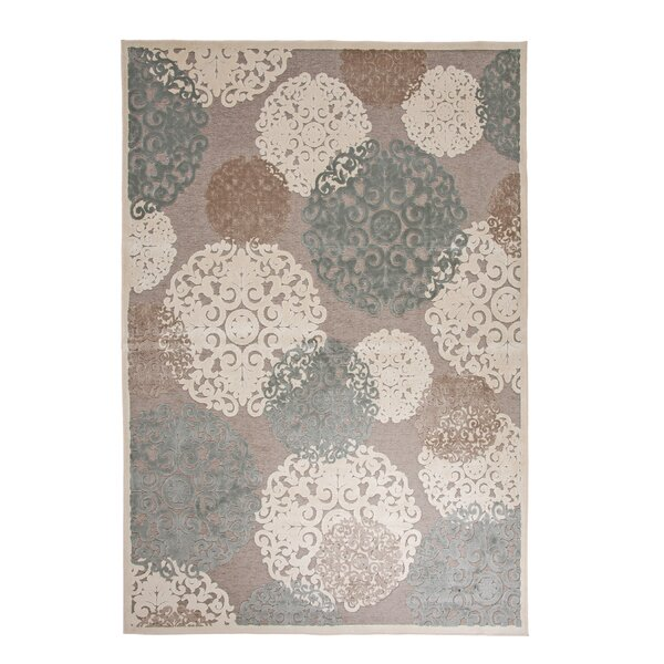 Baxter Grey/Tan/Ivory Area Rug by Rosdorf Park