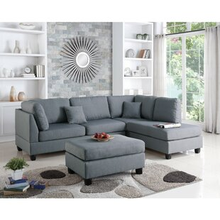 Jacober Reversible Modular Sectional with Ottoman