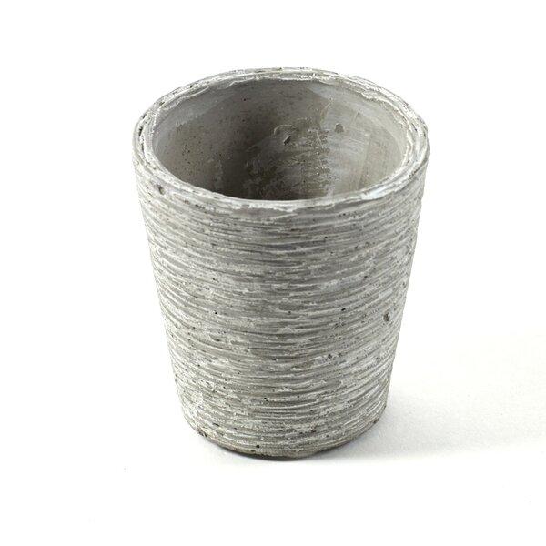 Ellis Mini Conical Cement Ceramic Pot Planter by Bloomsbury Market