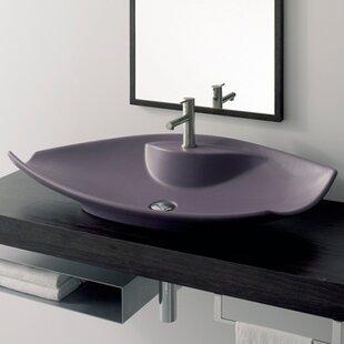 Read Reviews Kong Ceramic Specialty Vessel Bathroom Sink ByScarabeo by Nameeks