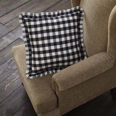 August Grove Caulder Buffalo Check 100 percent Cotton Throw Pillow  Color: Black