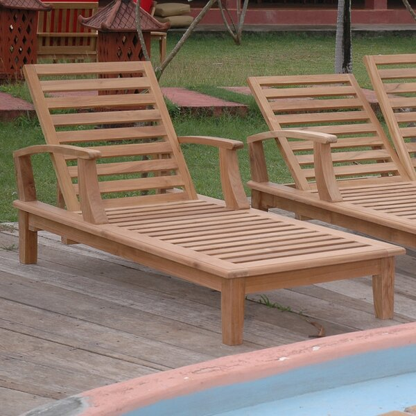Brianna Reclining Teak Chaise Lounge by Anderson Teak