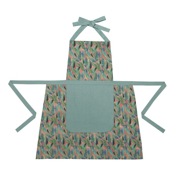 Botanicals on Blush Apron by Makers Collective