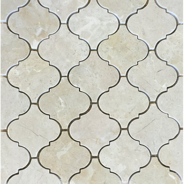 Casablanca Crema Marfil Wall Polished 12 x 12 Natural Stone Mosaic Tile in White by Seven Seas