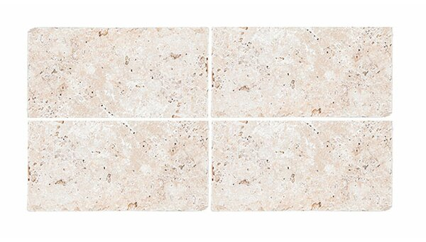 Tumbled 4 x 8 Travertine Field Tile in Ivory by Parvatile
