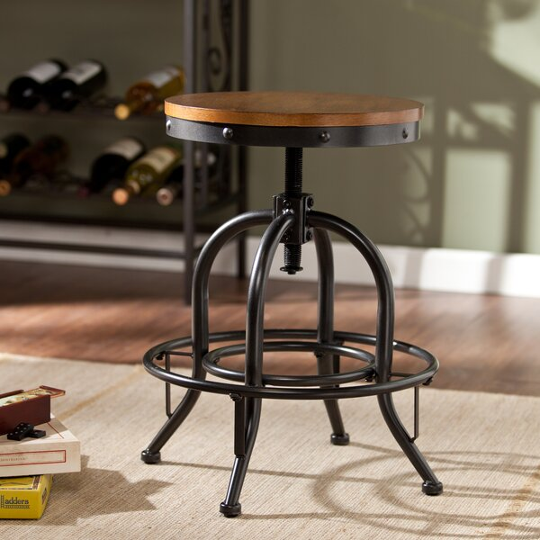 Industrial Adjustable Stool by Wildon Home ®