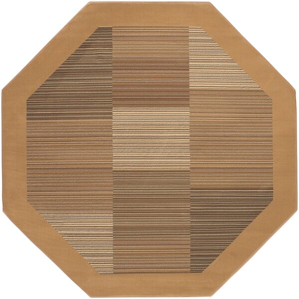 Judlaph Sahara Tan Geometric Area Rug by Bloomsbury Market