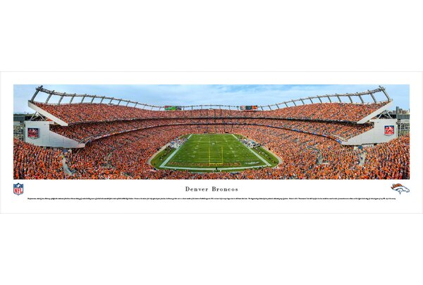 NFL Denver Broncos - Mile High Stadium by James Blakeway Photographic Print by Blakeway Worldwide Panoramas, Inc