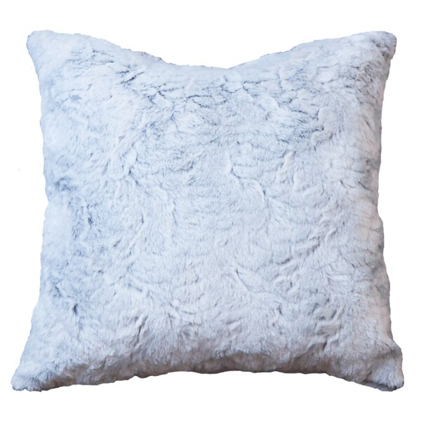 Lorne Frost Faux Fur Throw Pillow by House of Hampton