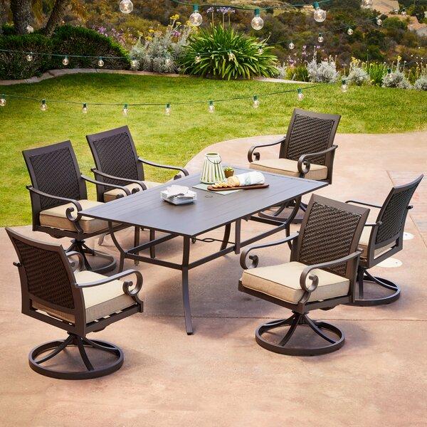 Kingston Seymour Milano 7 Piece Dining Set with Cushions Bayou Breeze RGAR1088