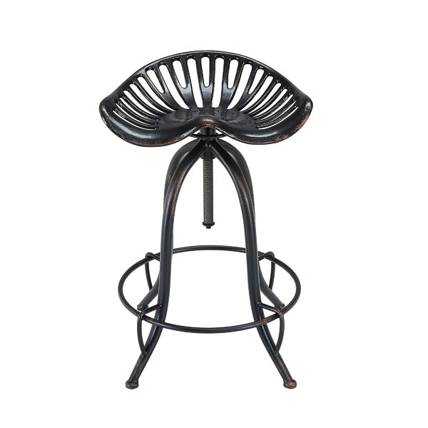 Shanaya Adjustable Height Bar Stool by 17 Stories