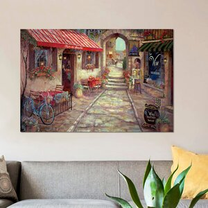 'Bar Du Marche' Painting Print on Canvas by East Urban Home