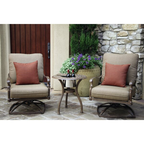Dolby 3 Piece Conversation Set with Cushions by Astoria Grand
