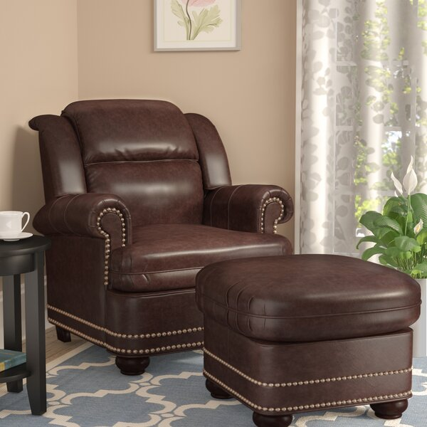 Winfree Armchair with Ottoman by Darby Home Co