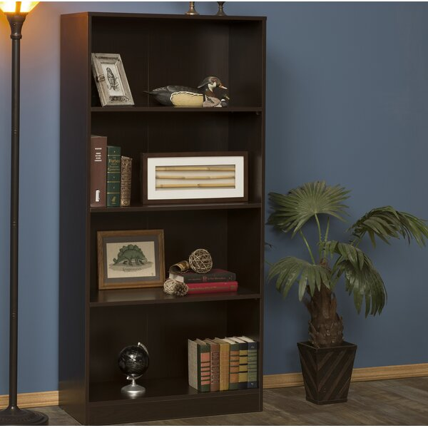 Modern Wood Standard Bookcase by Rebrilliant