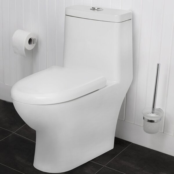 Eilt Dual-Flush Elongated One-Piece Toilet (Seat Included) by Maykke