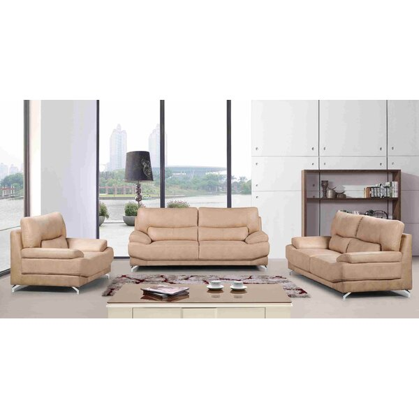 Hanish 3 Piece Living Room Set by Orren Ellis