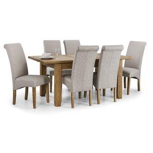 Essgruppe Astoria mit ausziehbarem Tisch und 6 Stühlen