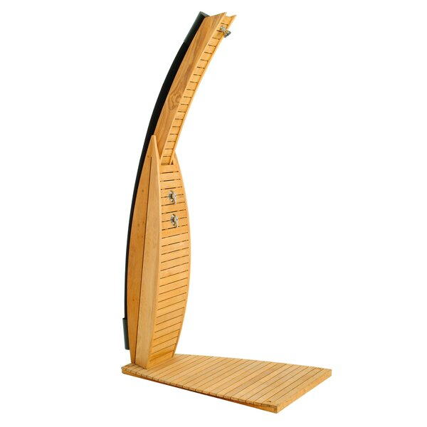 Teak Emoe Outdoor Shower by Les Jardins