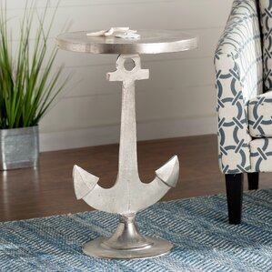 Beachcrest Home Octavia Aluminum Anchor Table