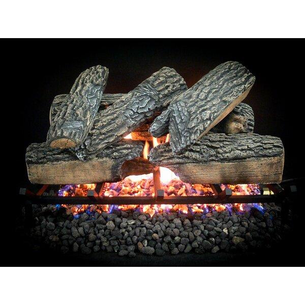 Complete Blazing Oak Propane Gas Log Kit by Dreffco