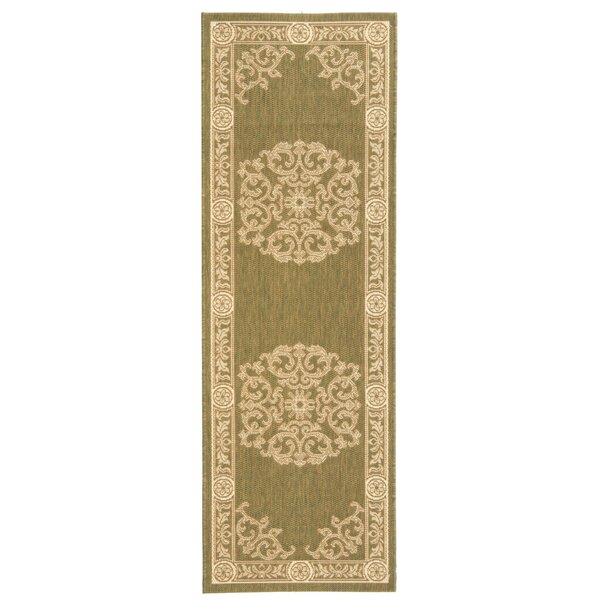 Carsen Olive/Natural Outdoor Rug by Astoria Grand