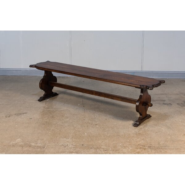 Wilhelm Wood Bench by Canora Grey