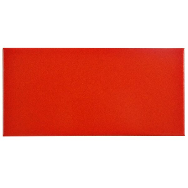 Proyecto 3.88 x 7.75 Ceramic Subway Tile in Matte Vermelho by EliteTile