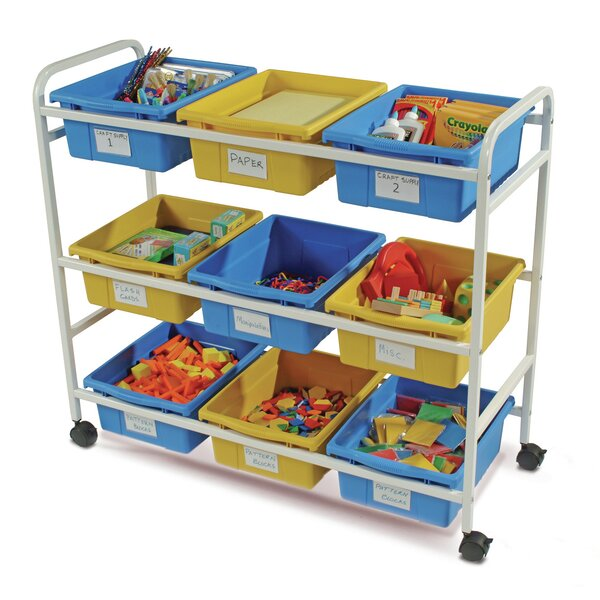 Double Sided 9 Compartment Teaching Cart with Bins by Copernicus