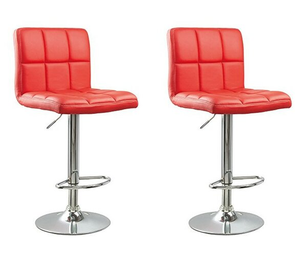 Ferry Adjustable Height Swivel Bar Stool (Set of 2) by Wrought Studio