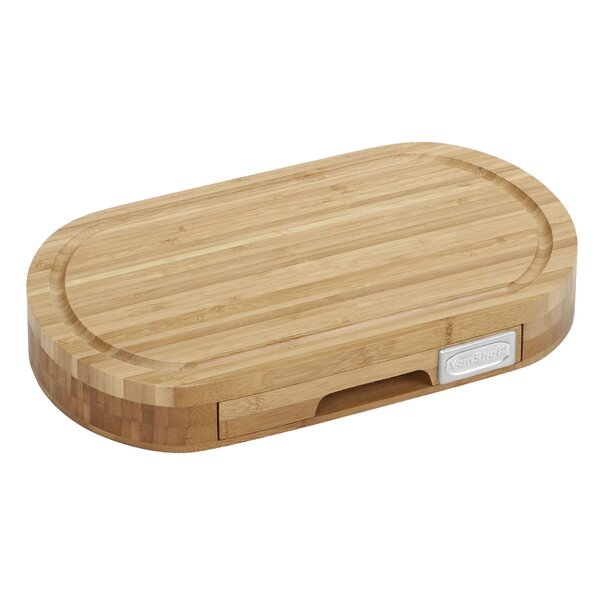 5 Piece Bamboo Cheese Board and Knife Set by VonShef