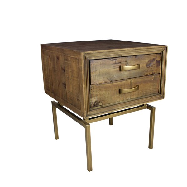 Boatman End Table with Storage by Foundry Select