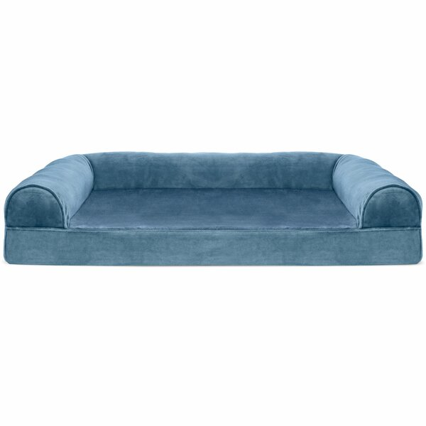 Caddy Faux Fur and Velvet Orthopedic Dog Sofa by Tucker Murphy Pet