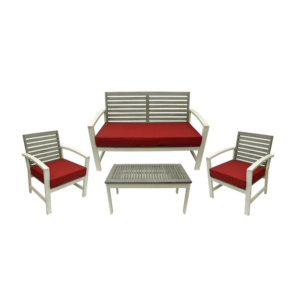 4 Piece Sofa Set with Cushions by Northlight Seasonal