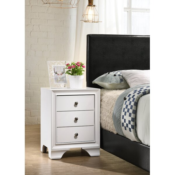 Cleckley 3 Drawer Nightstand by Red Barrel Studio