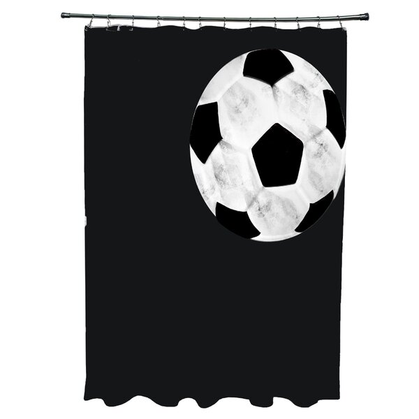 Bauer Soccer Ball Shower Curtain by Zoomie Kids