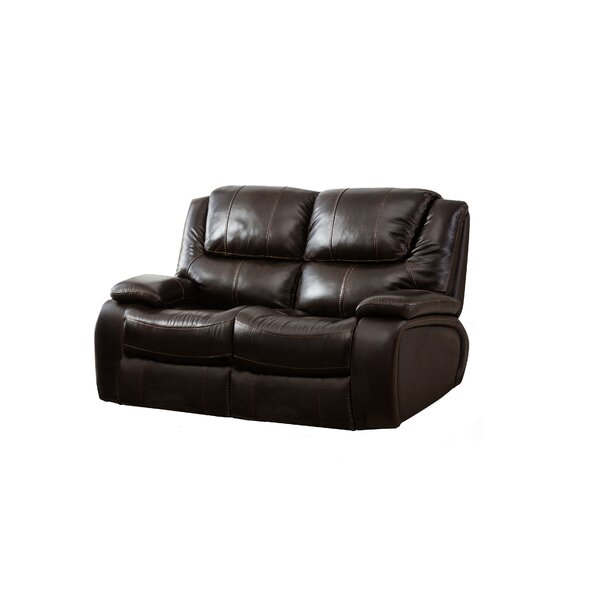 Web Order Hille Leather Reclining Loveseat by Red Barrel Studio by Red Barrel Studio