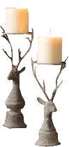 Deer 2 Piece Metal Candlestick Set by Union Rustic
