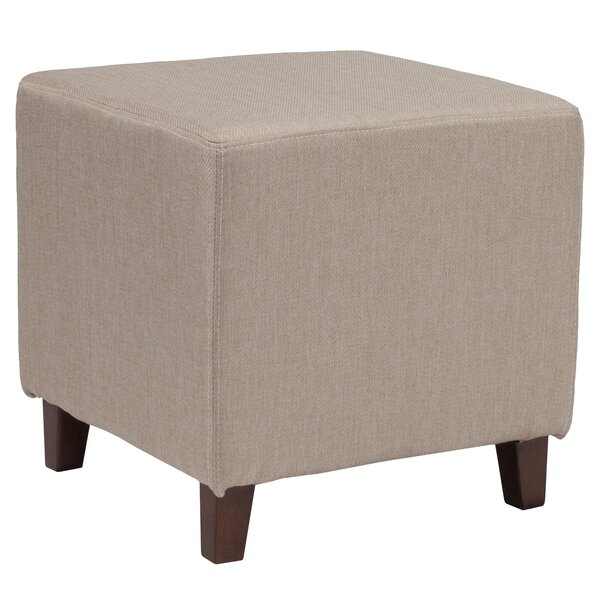 Castagna Upholstered Cube Ottoman by Charlton Home