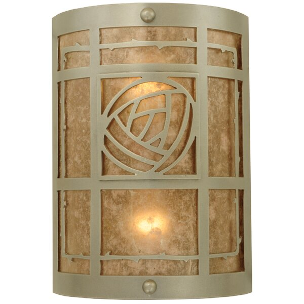 2-Light Bungalow Rose Wall Sconce by Meyda Tiffany