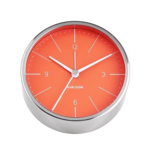 Tischuhr Normann 10 cm Karlsson Farbe: Silber/Orange | Dekoration > Uhren > Standuhren | Karlsson