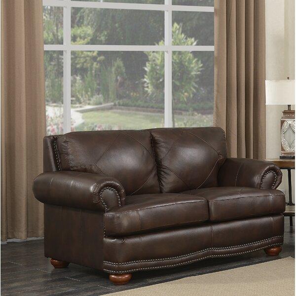 Bednarek Premium Leather Loveseat by Darby Home Co