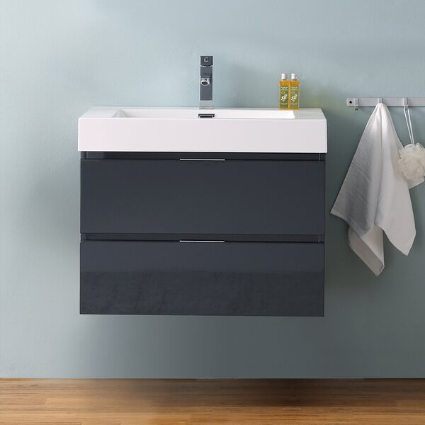 Senza Valencia 30 Wall Mounted Single Bathroom Vanity Set by Fresca