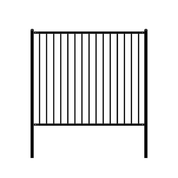 6 ft. W Lyon DIY Unassembled Steel Fence Panel by ALEKO